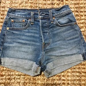Levi's high waisted wedgie shorts